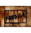 Fragile wooden box background vector