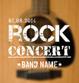 Blurred background with acoustic guitar rock vector