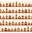 Seamless pattern with bottles vector