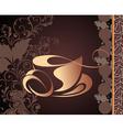 Tea cup background vector
