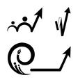 Grow arrow vector