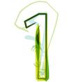 Green number 1 vector