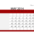 Simple 2014 calendar may vector