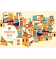 House set asian city vector