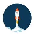 Start up concept symbol space roket ship sky icon vector