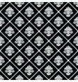 Black diagonal floral pattern vector