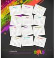 Calendar 2015 with grunge color blots vector