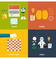 Icons for education headwork strategy business vector