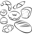 Pastry black outline vector