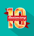 10 years anniversary celebration design vector