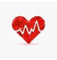 Heart tag pulse vector