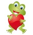 Frog heart vector