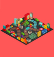 Board game with city building vector
