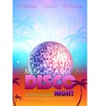 Disco poster bsckground vector