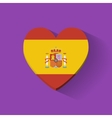 Heart-shaped icon with flag of spain vector
