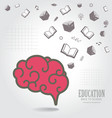 Education abstract conceptual background vector