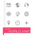 World map icon set vector