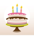Color birthday cake vector