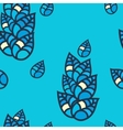 Colorful leaves seamless pattern vector