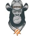 Gorilla - cowboy vector
