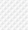 Seamless abstract background of white 3d shapes vector