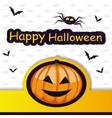 Halloween template frame for card vector