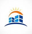 Abstract city building logo vector