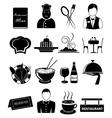 Restaurant icons set vector
