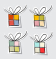 Paper gift box set on grey background vector