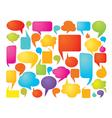 Colorful speech bubbles vector