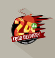 24 hours food delivery service vector