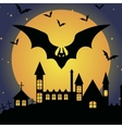 Halloween template frame vector