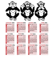 Year of the monkey chinese zodiac vector