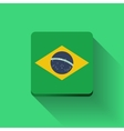 Button with flag of brazil vector