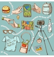 Travel and tourism icon things for travelling vector