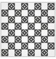 Chessboard ornate background vector
