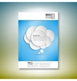 Abstract background of paper speech bubble vector