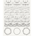 Hand sketched seamless borders frames dividers vector