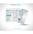 Postage high tech website vector