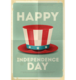 Independence poster hat vector