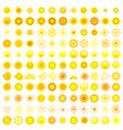 Set of sun icon vector