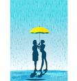 Umbrella in the rain vector