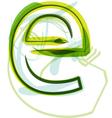 Green letter e vector