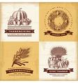 Vintage thanksgiving labels set vector