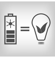 Solar battery as eco friendly source of energy vector