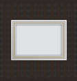 Antique white frame vector