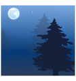 Moon over treetops vector