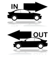 Car entrance and exit vector