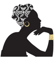 Woman beautiful portrait silhouette vector