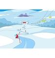 Ski resort vector